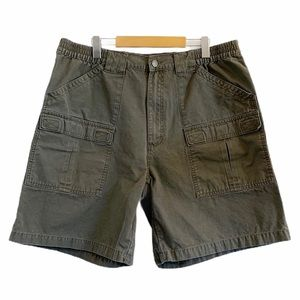 Cabela's Cargo Shorts Green Brown 100% Cotton 38